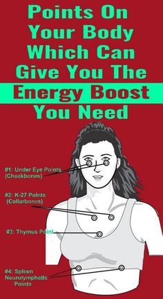 These points, dubbed acupoints, are places that need to be pressured or tapped vigorously in order for them to give your nerves energetic jolts, which would in turn give you refills of energy. Health And Wellness, Health Tips, Health Fitness, Wellness Fitness, Health Facts, Women's Health, Wellness Tips, Healthy Life, Healthy Living