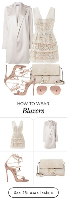 """Untitled #4747"" by sheryl798 on Polyvore featuring The Row, BCBGMAXAZRIA, Chloé, Dsquared2 and Ray-Ban"