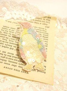 刺繍 ペンギンブローチ