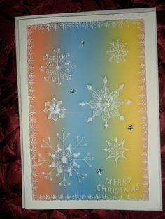 Snowflake Christmas Card with lovely embossed by Craftsbylindyloo