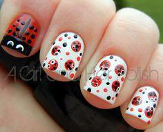 A Girl and Her Polish: Summer Challenge: Day 16 - Ladybirds/Ladybugs
