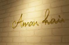 Beauty salon interior design ideas | + logo + hair + space + decor + Japan + antique + french | Follow us on https://www.facebook.com/TracksGroup <<<【Aman hair サイン】ロゴのデザインもさせていただきました。アンティーク 美容室 内装