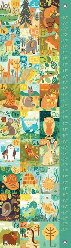 A through Z Animals Growth Charts