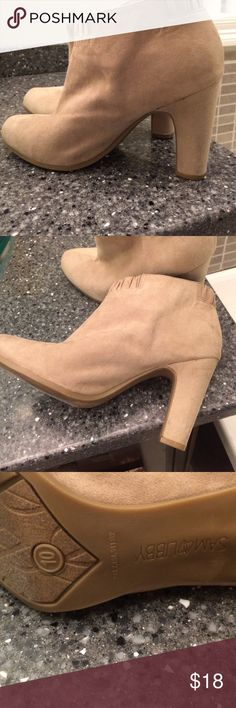 Sam & Libby booties In great shape worn only once. 4 inch heels. Sam & Libby Shoes Ankle Boots & Booties