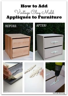 How to Add Vintage Clay Mold Appliques to Furniture