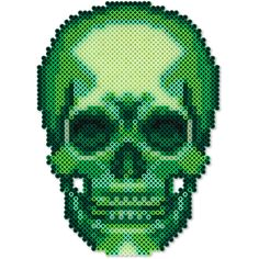 """Make this bone-chilling glow in the dark skull to creep out your Halloween trick or treaters! 10-3/4"""" high. Designed by Kyle McCoy."""