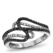 Sterling Silver, Diamond Fashion Ring $36.79