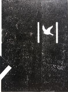 2011, linocut on paper, www.mariuszkruk.pl