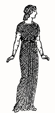 Ancient Roman Clothing. Young woman - Under tunic stola