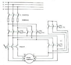 star-delta motor change direction power circuit