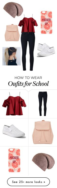 """""""Back to school Outfit"""" by pretty1d on Polyvore featuring Anna October, Frame Denim, Steve Madden, New Look, Kate Spade, Capelli New York, followme and likeit"""