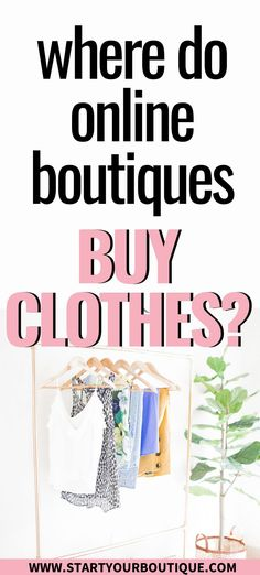 Opening an online boutique? Before you launch your new business youve got to get inventory to sell. But where do online boutiques buy clothes? Read this article to learn where you can go to buy wholesale clothing for your new online boutique business! Wholesale Boutique Clothing, Boutique Stores, My Boutique, Boutique Names, Online Fashion Boutique, Online Fashion Stores, Where To Buy Clothes, Starting An Online Boutique, Online Clothing Boutiques