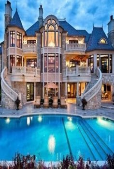 fancy houses mansions beautiful #bigmodernmansion