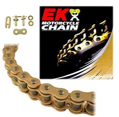 EK 520SRX2 Gold Off Road QX-Ring Motorcycle Chain (Clip Master) - 116 Links