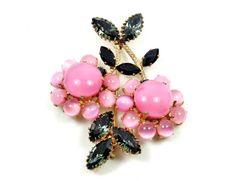 Countess Cissy Brooch Vintage Pink Moonstone Art by imagiLena