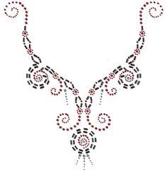 beaded neckline pattern