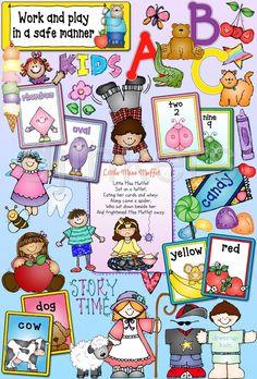 Cute Pre-K, Kindergarten & kids clipart by DJ Inkers