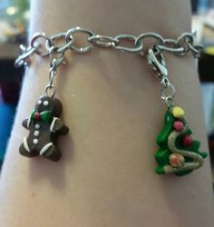 Charm bracelets holiday christmas all by BayouBelleCharms on Etsy