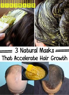 3 Natural Masks That Accelerate Hair Growth...