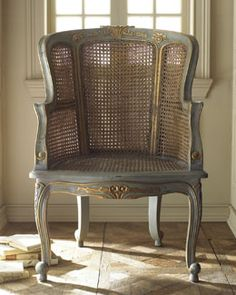 H4WD3 Antiqued Cane Armchair #HORCHOW
