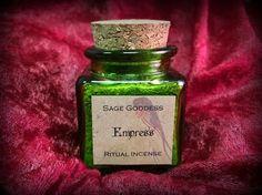 Empress Ritual Incense  Herbs Resins & Oils by TheSageGoddess, $18.00