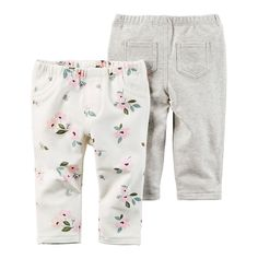 Featuring cute back pockets and a floral design, these girls' Carter's pants make outfit building easy. Boys Summer Outfits, Little Girl Outfits, Little Girl Fashion, Toddler Outfits, Kids Outfits, Kids Fashion, Luxury Baby Clothes, Baby Kids Clothes, Baby Girl Bottoms