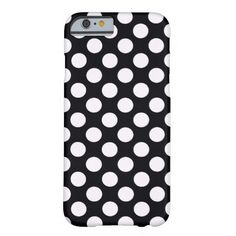 Shop Black White Polka Dots Retro Pattern Case-Mate iPhone Case created by stdjura. Retro Pattern, Iphone 6 Cases, Polka Dots, Black And White, Design, Black N White, Iphone 6 Skins, Black White