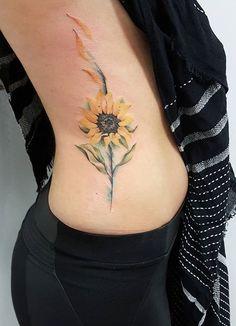 Jemka tattoo flower sunflower