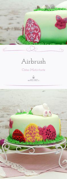 Airbrush auf Fondant-Torten! Hier zeige ich dir meine Osterdeko mit Airbrush gesprüht!