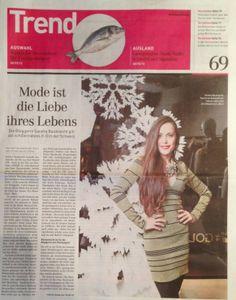 Sonntagszeitung 24.11.2013 Sandra Bauknecht http://www.sandrascloset.com/happy-4th-birthday-sandras-closet/
