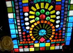 Stained Glass Mosaic made for my friends Mary and John Mosaic Glass, Stained Glass, Glass Houses, My Friend, Friends, Glass Blocks, Mosaics, Mary, Crafts