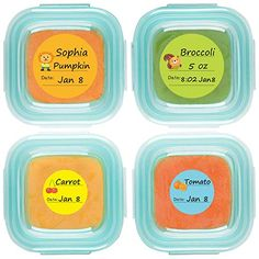 Baby Food Labels, Removable Write-On Date Labels for OXO TOT Food Storage Containers & Baby Bottles, Great for Daycare, Pack of 90 : Baby Wholesome Baby Food, Milk And More, Food Labels, Food Storage Containers, Baby Bottles, Latex Free, Freezer Meals, Baby Food Recipes, Permanent Marker
