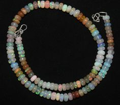 """62 Crts 1 Strands 4 to 5 mm 14"""" Beads necklace Ethiopian Welo Opal  AA+++4060"""