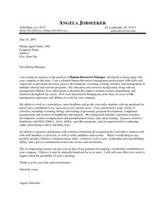 Outstanding Cover Letter Examples | HR Manager Cover Letter Example