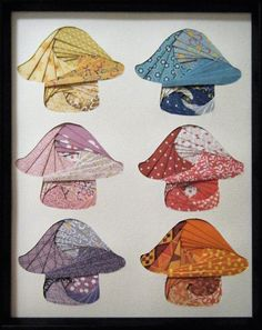 paper iris mushrooms