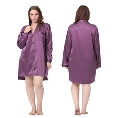 af1d7866f6 Lilysilk Nightshirts for Women Silk Nightgown Plus Size 22 Momme Classic  Sexy Night Shirt With Buttons Luxury Bride Large
