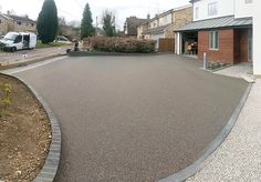 Resin Bound Gravel Driveway in Seal colour, Wendens Ambo, Essex installed by Clearstone Permeable Driveway, Resin Driveway, Diy Driveway, Gravel Driveway, Driveway Design, Driveway Landscaping, Driveway Ideas, Resin Bound Gravel, Resin Bound Driveways