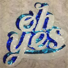Aliexpress.com : Buy Embroidered Sequins White Biker Patches Oh yes Iron on Patches For Clothing, t shirt women, polo, gym clothing, harajuku, kawaii from Reliable patch retail suppliers on Top 1. Fun