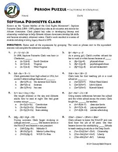 Printables Factoring Ax2 Bx C Worksheet Answers person puzzle factoring ax2 bx c muhammad yunus algebra by grouping septima poinsette clark