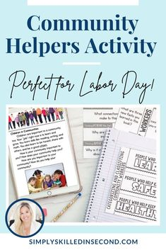 This is the perfect activity for Labor Day! Teach your kiddos all about Community Helpers and what that means for Labor Day in this resource! Perfect for your primary students, this resource is equipped with a book, lesson plan and all the activities needed to teach! It's available for you in digital or in person! Smart Board Activities, Grammar Activities, Social Studies Activities, Science Activities, Writing Activities, Online Reading Programs, Math Groups, Happy Labor Day, Community Helpers