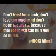 Too much can hurt you so much!!