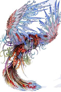 Phoenix by PearlEden @ deviantArt THIS is simply BEAUTIFUL!!!
