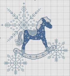 Gallery.ru / Фото #75 - зима, Новый год 1 - kfnnf Cross Stitch Christmas Ornaments, Christmas Cross, Xmas, Carousel Horses, Yule, Cross Stitch Patterns, Alphabet, Kids Rugs, Embroidery