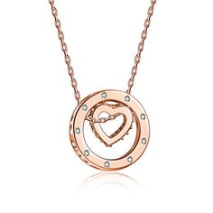 925 Sterling Silver Heart Pendant Necklace with small Cubic Zirconia design along the pendant Silver/Rose Gold Color Jewelry For Women with Hollow Round Pendants Pendant Size: about / cm Length: about Weight: about g Fashion Jewelry, Women Jewelry, Heart Pendant Necklace, Heart Pendants, Birthday Gifts For Girls, Round Pendant, Necklaces, 925 Silver, Sterling Silver