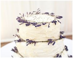 Dried lavender used to decorate the wedding cake! Bunches of dried lavender available from www.theweddingofmydreams.co.uk