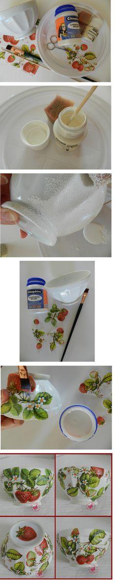 Coller la serviette Transfert du0027images Pinterest Collage - peinture pour joint silicone