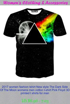 2017 women fashion tshirt New style The Dark Side Of The Moon womens men cotton t-shirt Pink Floyd 3D printed t shirts for man