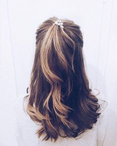Love this volume half up half down hairstyle #hairstyle #hairstyles