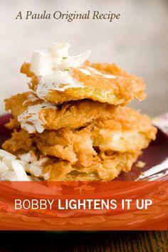 Bobby's Lighter Fried Green Tomatoes