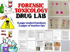 A+great+lab+for+any+Forensic+Science+class+studying+toxicology!+Students+learn+about+color+spot+tests+and+urine+drug+tests+while+performing+fun,+realistic+drug+tests+that+get+consistent+results!Includes:+8-page+student+worksheet++3-page+Teacher+Tips+and+PhotosAll+handouts+come+in+both+.docx+and+.pdf+formats**+Please+see+the+preview+for+required+material+list+before+purchasing.+